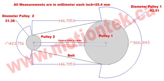 Timing Belt Pulley Formula : Belt length calculation formula image search results